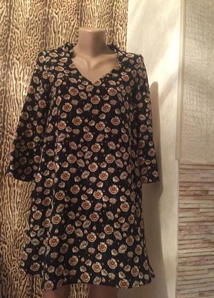Короткое платье/ туника в цветочки mango