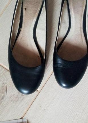 Черные кожаные балетки туфли2