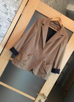 Только до 20.12! бежевый удлиненный жакет пиджак (бесплатная доставка)