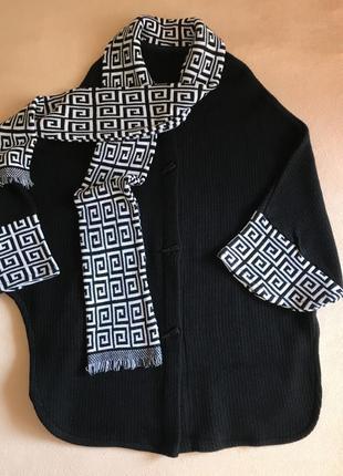 Кардиган пальто пончо