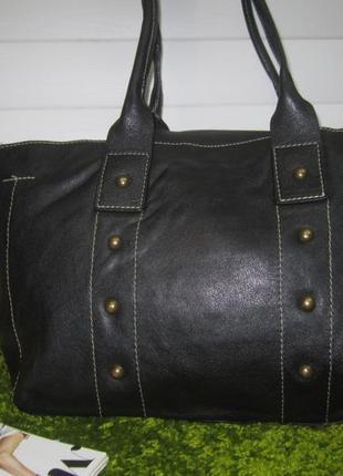 Большая кожаная сумка шоппер итальянского бренда guia`s нат. кожа