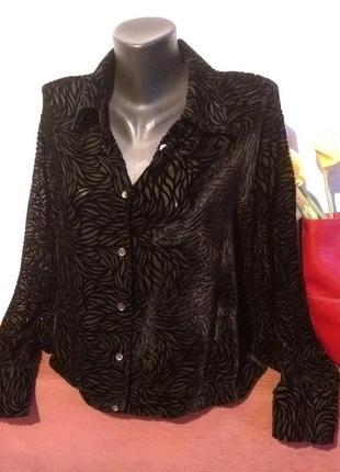 Трендовая блузочка,натуральный шелк,панбархат-деворе