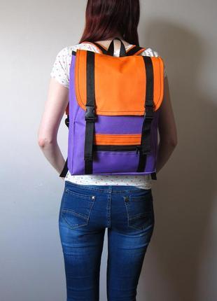 Рюкзак ручной работы с  уплотненным отделением для планшета или ноутбука