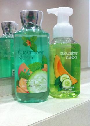 """Комплект: гель-масло для душа и мыло-пенка для рук, коллекция """"cucumber & melon"""", сша"""