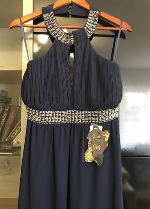 """Шикарное нарядное вечернее платье длинное . размер 46-48 """"eve seduire gold collection"""""""