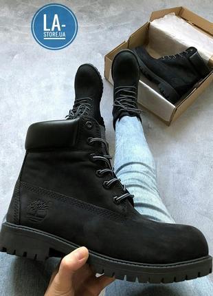 """Шикарные осенние/ зимние ботинки timberland """"all black"""" унисекс (мужские /женские размеры)"""