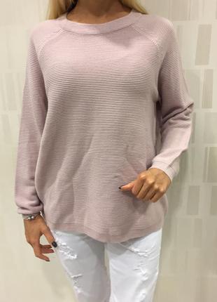 Пудровый свитер оверсайз кофта джемпер. amisu. размеры уточняйте.