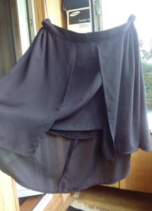 Шифоновая черная юбка topsecret