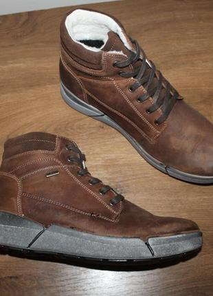 3658c5e80 Итальянские кожаные ботинки с амортизацией shock absorber waterproof, 44  размер 29 см