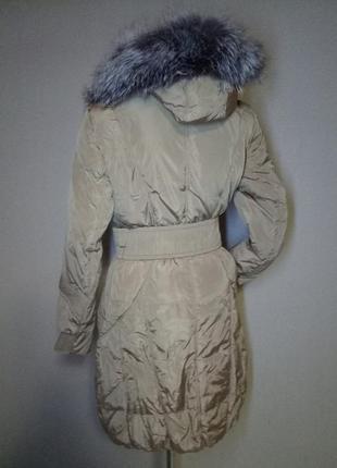 Пуховик,пальто женский с натуральным мехом peercat (хl)