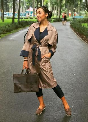 Дизайнерский модный осенний плащ пальто от anna yakovenko