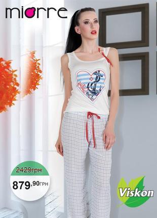 Суперовая пижама из натуральной ткани 👍
