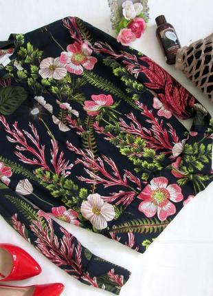 H&m /яркая блуза в цветочный принт