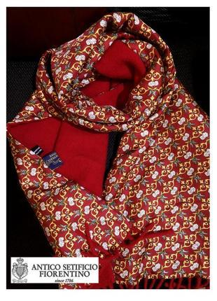 Изысканный теплый шарф от итальянских мастеров antico setificio fiorentino, шерсть,шелк