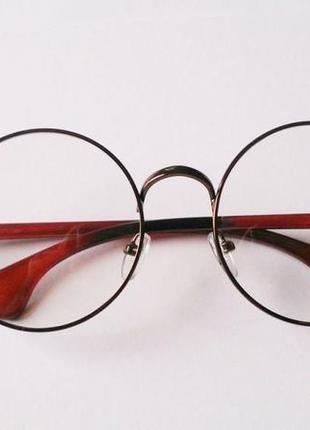 Имиджевые круглые очки, очки гарри поттер, круглые очки с прозрачным  стеклом1 ... 1c22489b271
