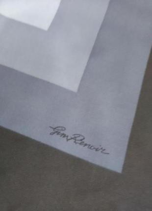 Винтажный итальянский подписной платок gim renoir