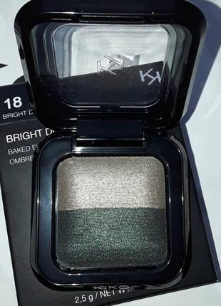 Тени kiko milano bright duo baked eyeshadow!
