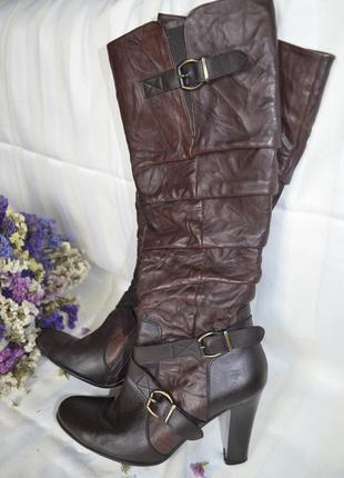 Сапоги весна осень 37 размер кожаные beatrix италия