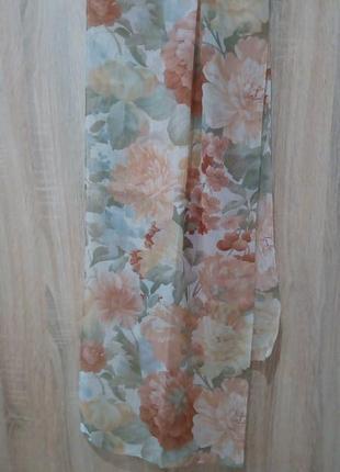 Легкий шарфик в пастельных тонах италия 158х38