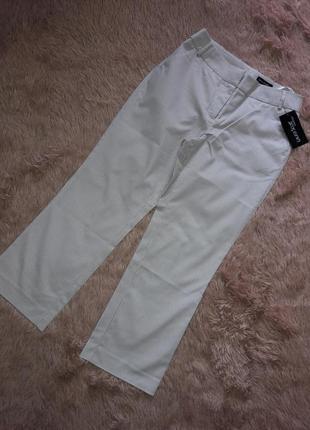 Укороченные штаны кюлоты в полоску