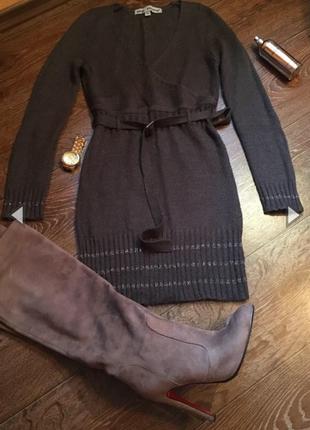 Платье/туника/вязаное платье/размер s/m/тёплое/французский бренд