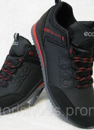 Обувь мужская кожаная спорт на шнурках ecco