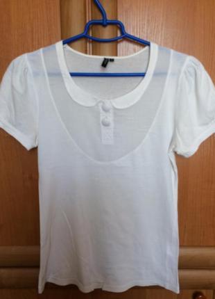 Футболка блуза с воротником