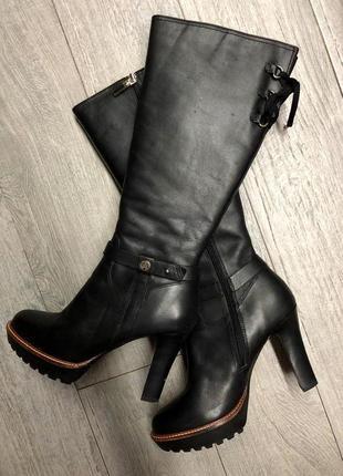 Зимние сапоги на удобном каблуке