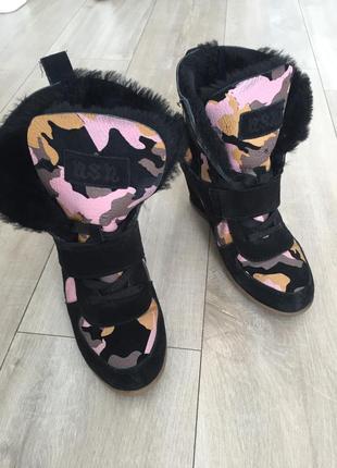 Совсем новые зимние ботинки