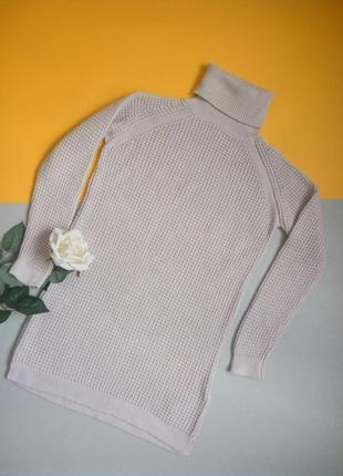 Теплый удлиненный свитер-туника с ангорой