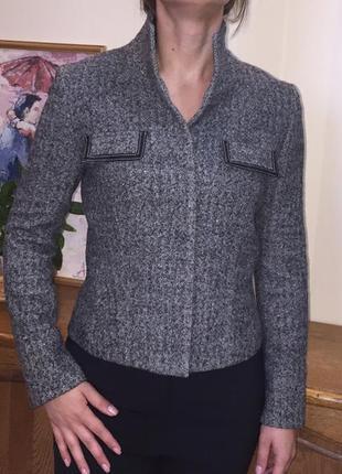 Жакет пиджак icb  модный японский дорогой  бренд шерсть