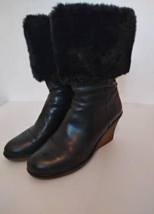 Сапоги/ ботинки с мехом еврозима на танкетке 40р
