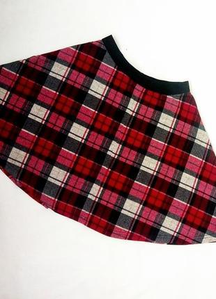 Шерстяная теплая юбка в клеточку atmosphere клетчатая в клетку шотландка