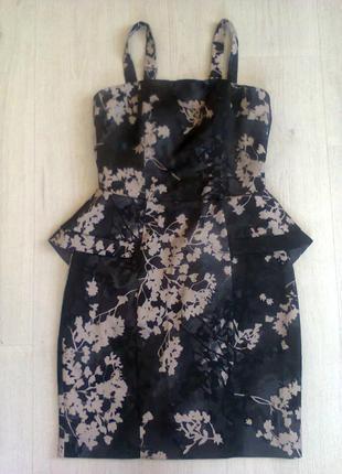 Коктейльное платье цветочный принт h&m