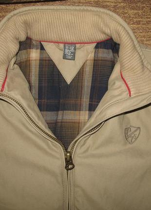 Отличная демисезонная куртка zara kids на мальчика 10-12 лет, 152р