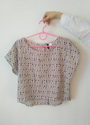 Кроп блуза h&m