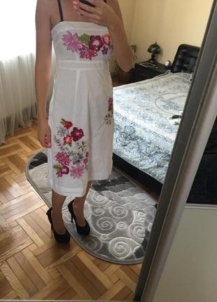 Платье с вышивкой(льон)