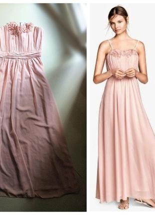Ніжна пудрова  сукня h&m,p.eur 36