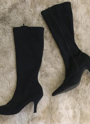 Сапоги с острым носком ботинки чулки каблук рюмка тренд 2018