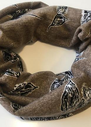 Шарф хомут трикотажный коричневого цвета шарф in ua
