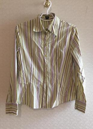Стильная яркая рубашка в полоску esprit