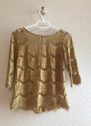 Кружевная блуза zara trf