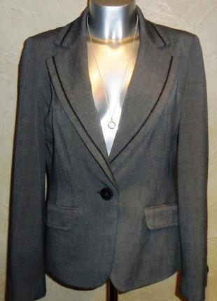 Офисный серый пиджак жакет m&s m-l