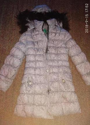Теплый пуховик зимний
