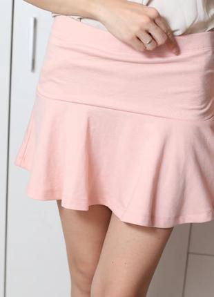 Пудровая юбка s-m