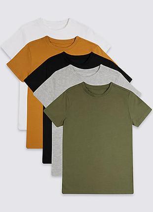 Набор из 5 штук футболок от marks&spencer из англии на 6-7,7-8 лет