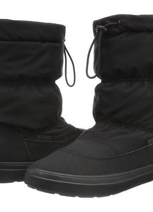 Crocs lodgepoint boot р. w8 крокс зимние сапоги дутики
