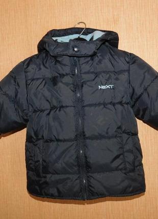 Куртка next зимняя на 1-1,5 г. рост 86 см