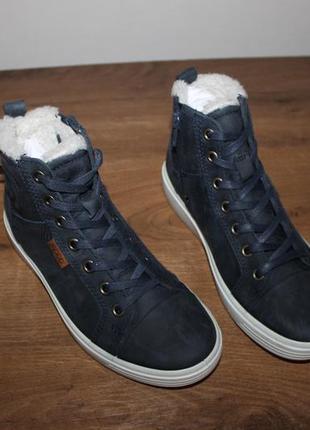 Кожаные ботинки зимние ecco soft 7, 33 размер