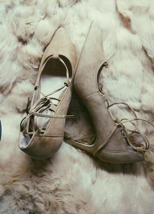 Новые стильные лодочки на каблуке